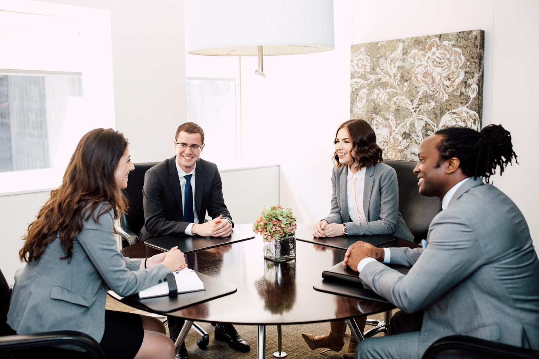 candid board room meeting
